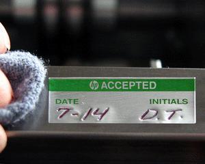 Self-Debossing Aluminum Labels