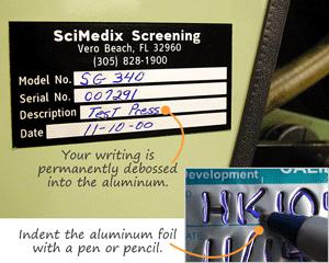 Debossable aluminum labels