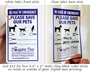 Static Clear Labels