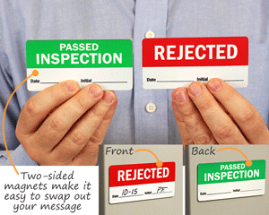 Two Sided Swappable Magnetic Labels