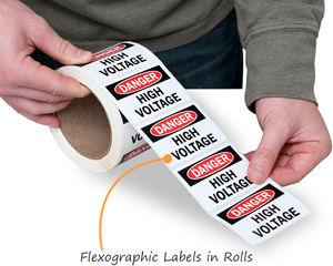 Vinyl roll labels