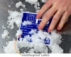 Vinyl weatherproof labels