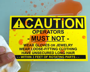 Caution Safety Weatherproof Labels