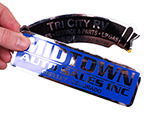 Low Cost Chrome Polyester Labels