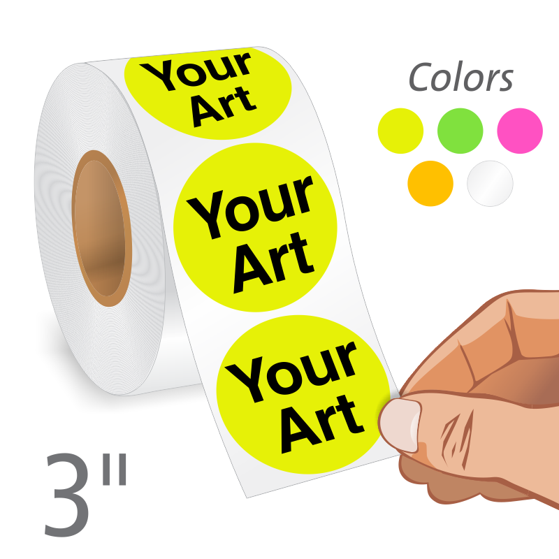 Round Stickers Custom And Stock Labels Ship Free From Labellab