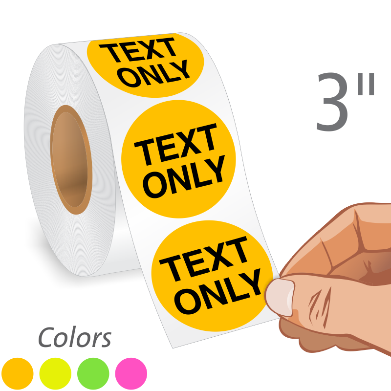 Fluorescent Labels Free Shipping From LabelLab - 4x4 label template