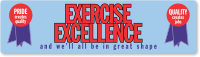 Exercise Excellence, Be in Great Shape Stickers