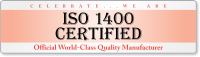 ISO 1400 Certified Quality Bumper Stickers