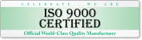 ISO 9000 Certified Quality Bumper Stickers