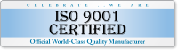 ISO 9001 Certified Quality Bumper Stickers
