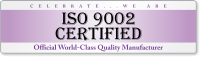 ISO 9002 Certified Quality Bumper Stickers