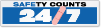 Safety Counts 24/7 Bumper Stickers