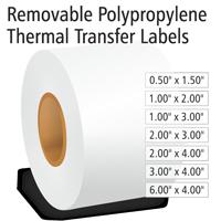 Removable Polypropylene Thermal Transfer Labels