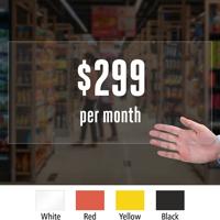 Custom Price Die Cut Label