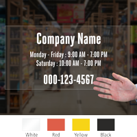 Customizable Text Timing Die Cut Label