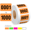 Roll Of 0001 to 1000 Sequentially Pre-Numbered Labels