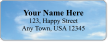 Customizable Address Label With Clear Blue Sky Symbol