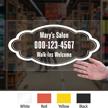 Custom Text Phone Number Designer Die Cut Label