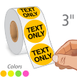 Fluorescent Circular Label Template, Write Your Personalized Text
