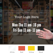 Customizable Logo and Timing, Single-Sided Label