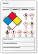 Hazard and Precautionary Statement GHS Secondary Label