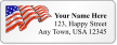 Customizable Address Label With American Flag Symbol