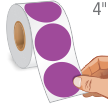 Purple Circular Color-Coded 500 Labels/Roll