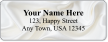 Custom Address Label With White Satin Wave Symbol