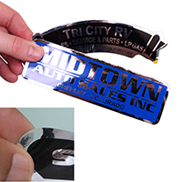 Chrome Polyester Labels