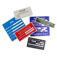 Aluminum Name Plates For Equipment