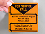 For Service Call Labels